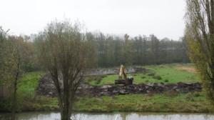 Slibdepot in park De Koppel