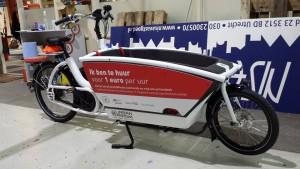 En vergeet de bakfiets niet. Te huur voor 1 euro per half uur bij fietsenmaker Gijsbrecht